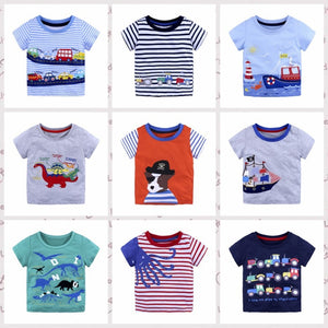 d3dd93d55 Sports Boys Tops Summer 2018 Children T shirts Boys Clothes Kids Tee Shirt  Cartoon Printed 100% Cotton Character Print Baby Boy