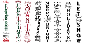 Holiday 5ft front porch sign workshop: 11/3