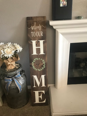 Sports theme 5ft front porch sign: 8/16