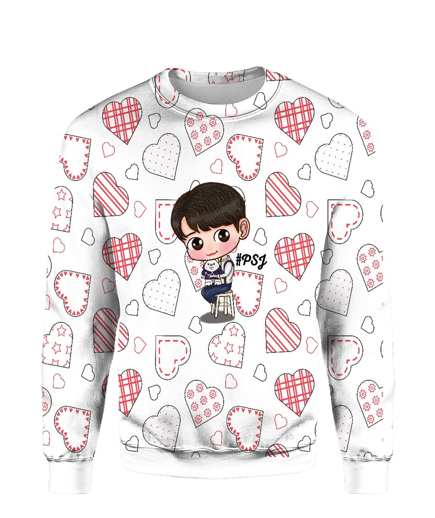 Park Seo Joon T-Shirt Heart Design Cute