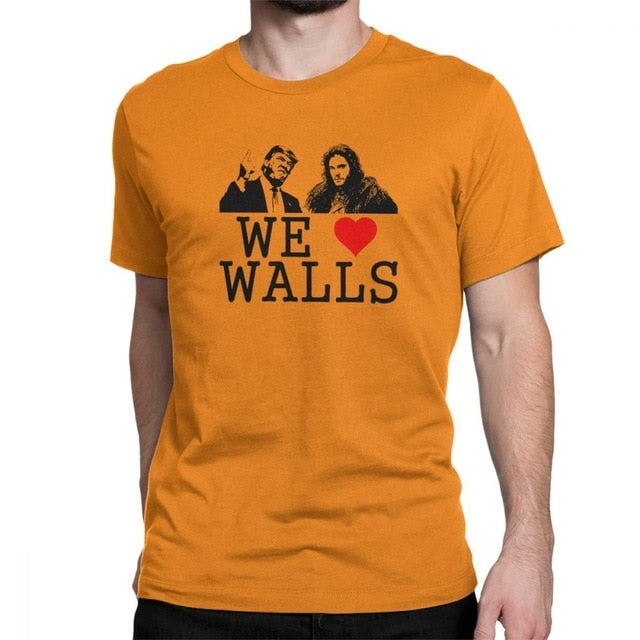 Donald Trump T Shirts Men We Love Walls