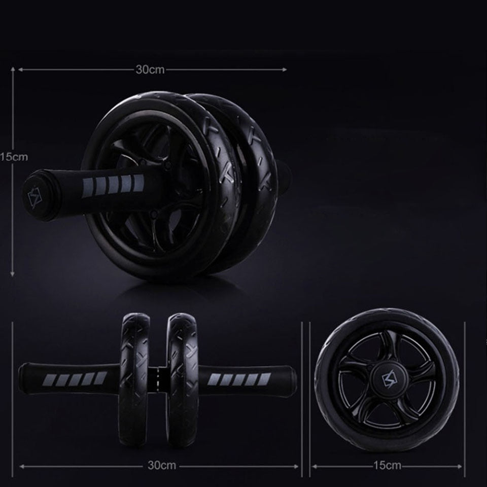 New Keep Fit Wheels No Noise Abdominal Wheel Ab Roller With Mat For Exercise Muscle Hip Trainer Fitness Equipment