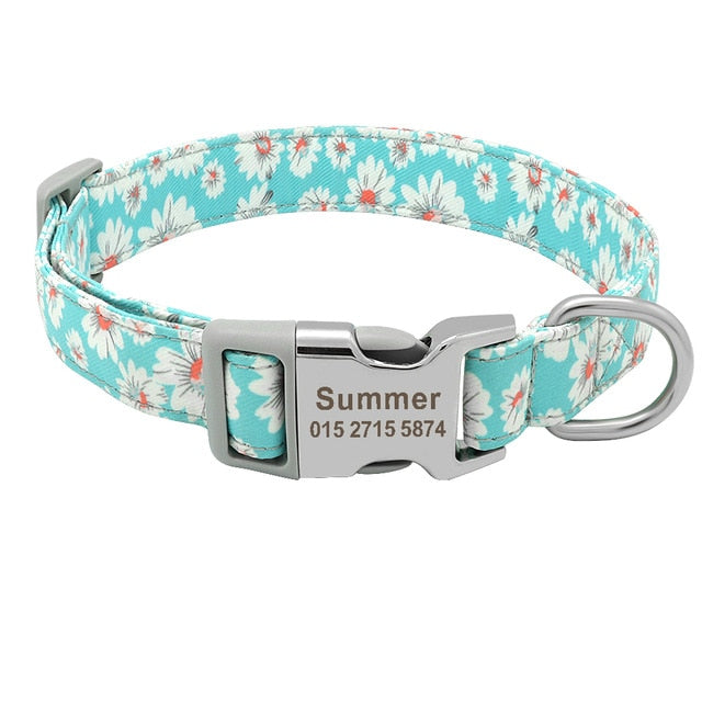 Customized Printed Pet Collar Nylon Dog