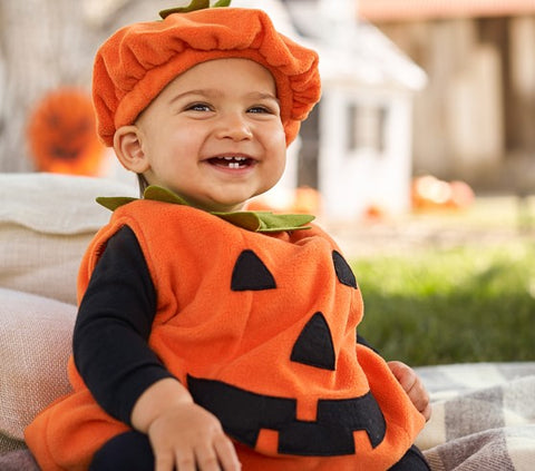 0-3Y Newly Cosplay Halloween Toddler Baby Kid Pumpkin Print Sleeveless Romper Jumpsuits Tops+Hats Baby Clothes 2PCS Costumes