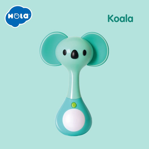 ini rattle with Music/Light Animal Hand Bells Plush Toy & Baby Teething Toy