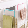 Image of Towel Rack Hanging Holder Organizer Bathroom Kitchen Cabinet Cupboard Hanger Towel Sponge Holder Storage Rack for Bathroom