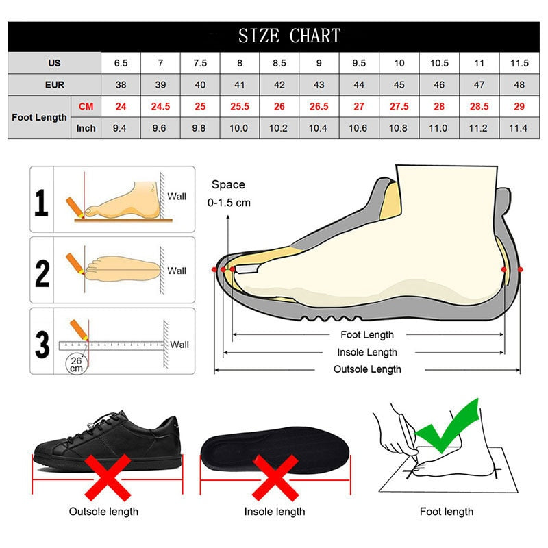 SUROM Men Fashion Shoes Mesh Breathable