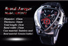 Image of Jaragar Sport Racing Design Geometric Triangle Mens Watches