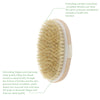 Image of Hot Dry Skin Body Soft natural bristle SPA Bath Shower Brush Wooden Bath Shower Bristle