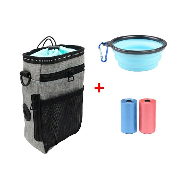 Multifunctional Snack Treat Pouch With Poop Bag