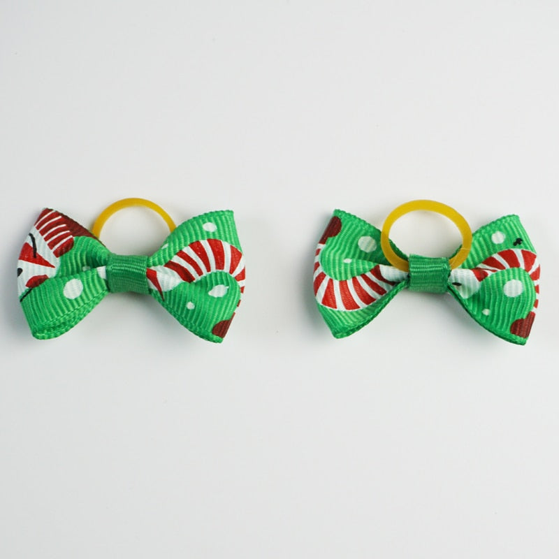 (20 pieces/lot) Christmas Products For Pet Cute Ribbon