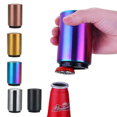 Magnetic Automatic Beer Opener Stainless Steel Bottle Opener Portable Magnet Wine Openers Bar tools Magnetische bier flesopener