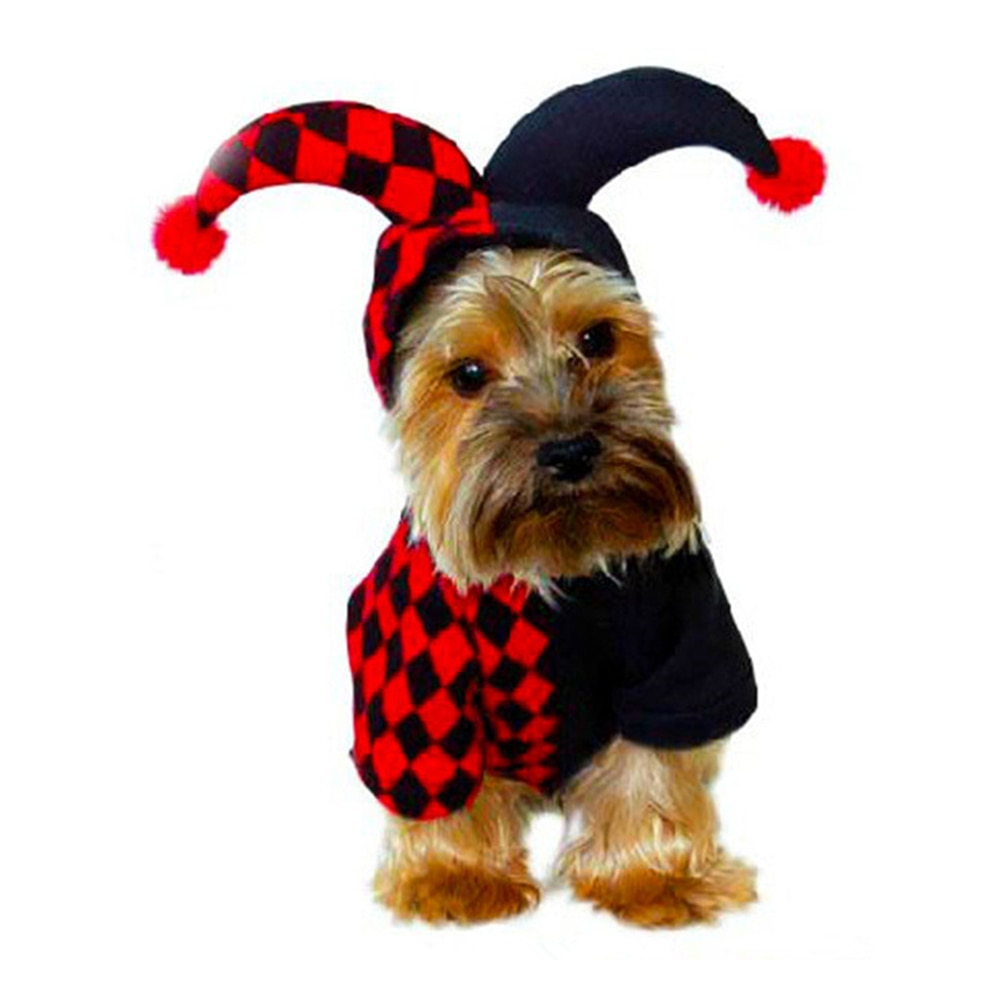 Funny Cute Pet Costume Cosplay Bull Horn Cap Hat Suit