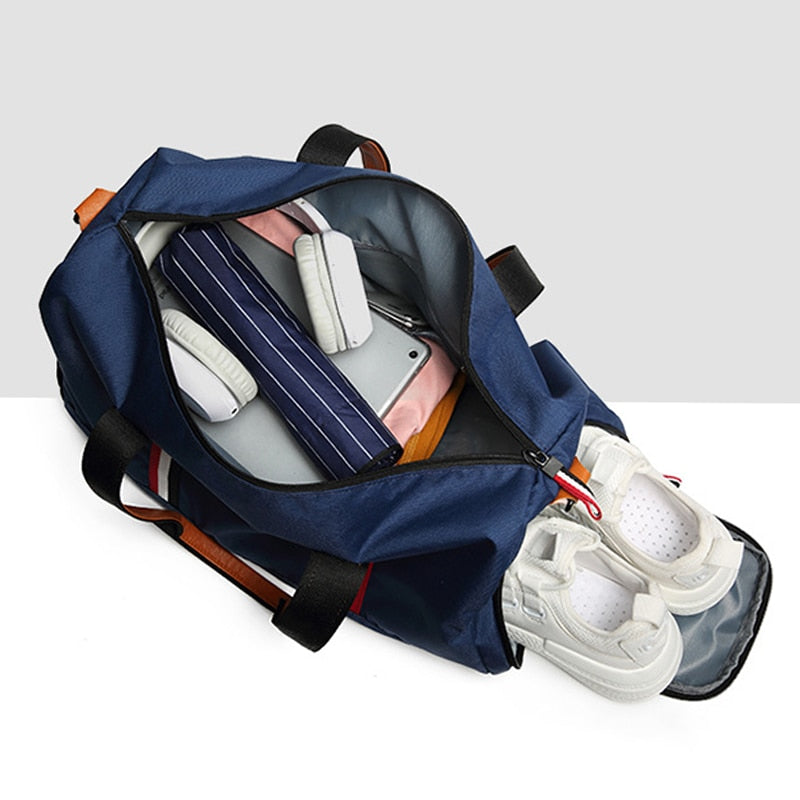 Hot A++ Quality Foldable Lightweight Sports Bag Travel Gear Waterproof Large Space Hand Duffel Gym Bag Men For Fitness