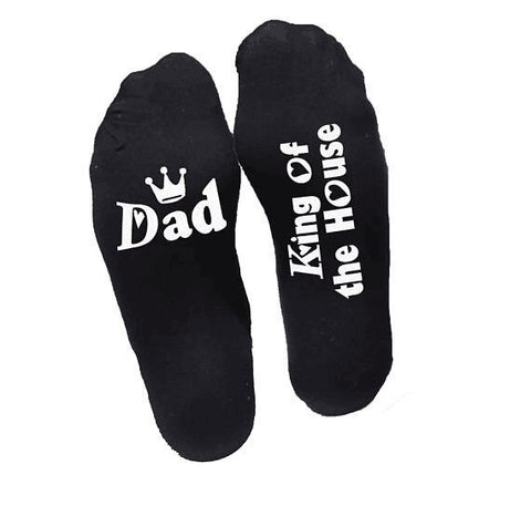 Thanksgiving day gift for mom and dad Letter cotton socks birthday gift present for mother and father