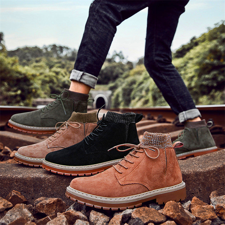 Trend men's casual shoes high-top sneakers