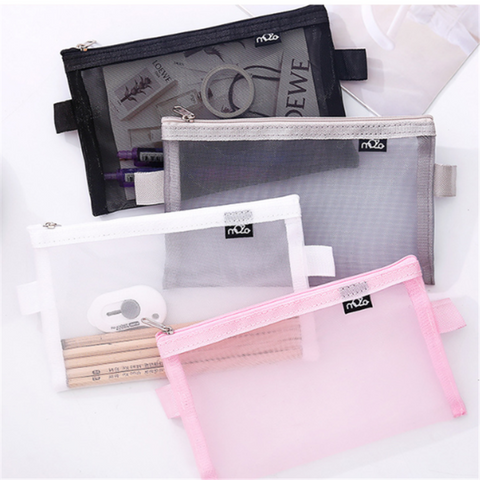 Vogvigo Travel Cosmetic Bag Women Zipper Make Up Transparent Makeup
