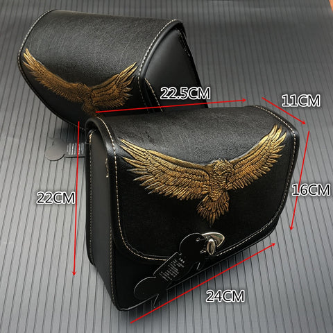 Motorcycle Saddle bags PU Leather