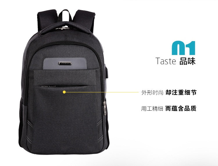 Manufacturers Direct Selling Laptop Backpack USB Rechargeable Laptop Computer Bag Briefcase Anti-Theft Waterproof Computer Backp
