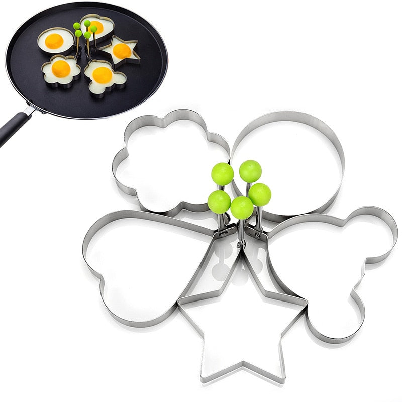 5 Style 1pcs Stainless Steel Fried Egg Shaper Pancake Mould Omelette