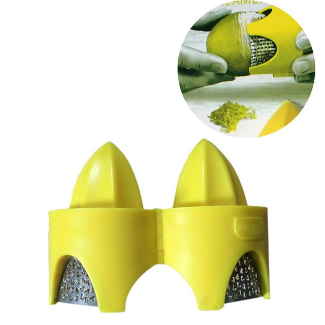 Citrus Zester & Reamer Compact Juicer 2-in-1 Protects Fingers