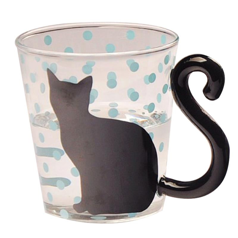 Lovely Cat Tail Glass Mugs