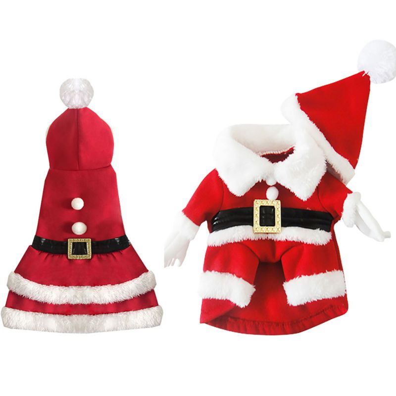 Dog Jumpsuits Christmas Rompers Santa Claus