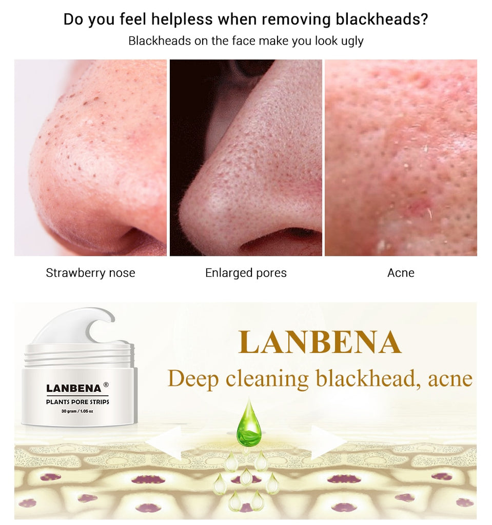 New LANBENA Unisex Blackhead Remover Nose Face Mask