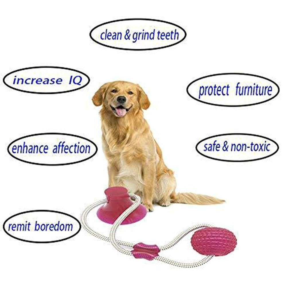 Multifucntion Pet Molar Bite Toy Dog Rope Tug Toys Tooth Cleaning Brushing Chew