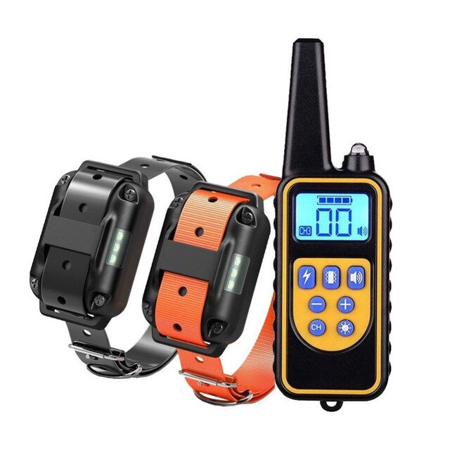 880 1000M Plastic Pet Dog Training Collar With LCD