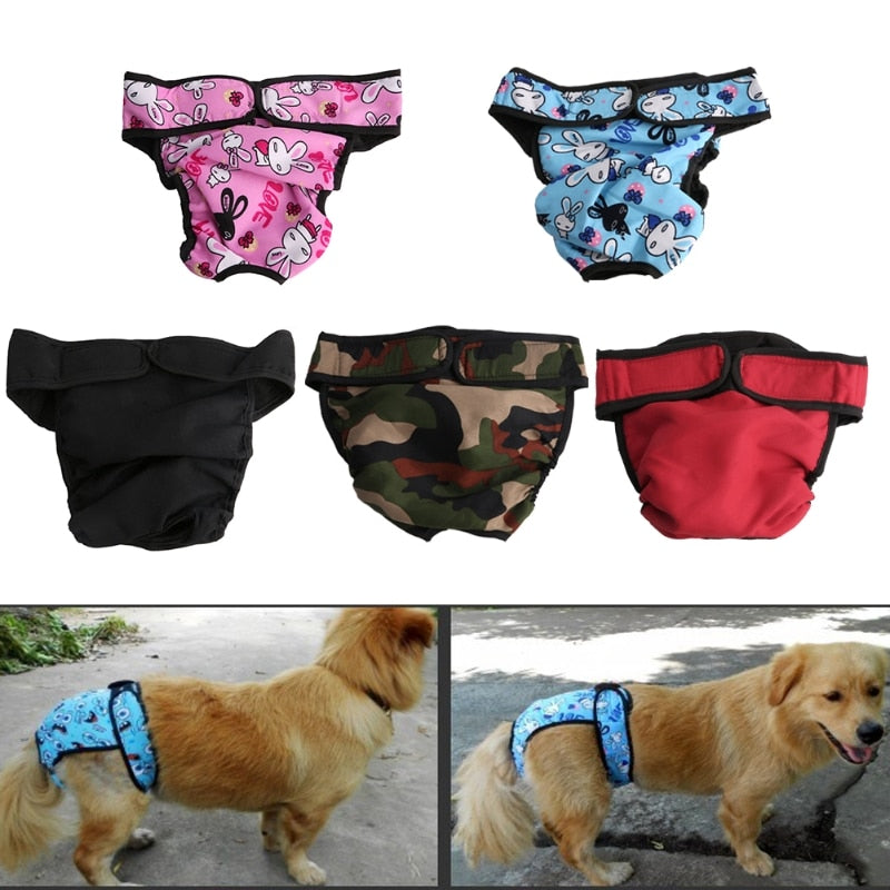 Reusable Washable Diaper Dog Breeds Physiological Pants Female Big Dog S-XL
