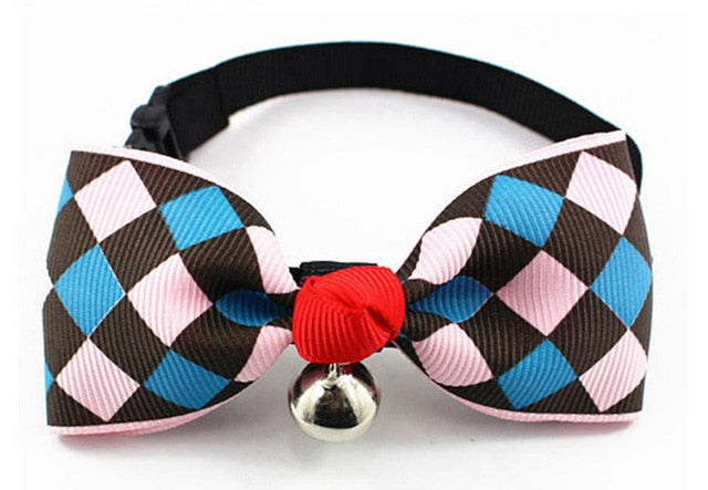 Diamond Pattern Cat Collar Cat Bow Tie