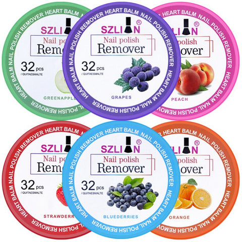 Fruit Nail Polish Remover Wipes