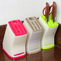RANDOM Color Knife Block Holder Plastic Storage Rack Tool Turret Plug Shelf Drainer Box