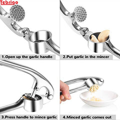 Tebrigo Garlic Press Presser and Crusher Portable