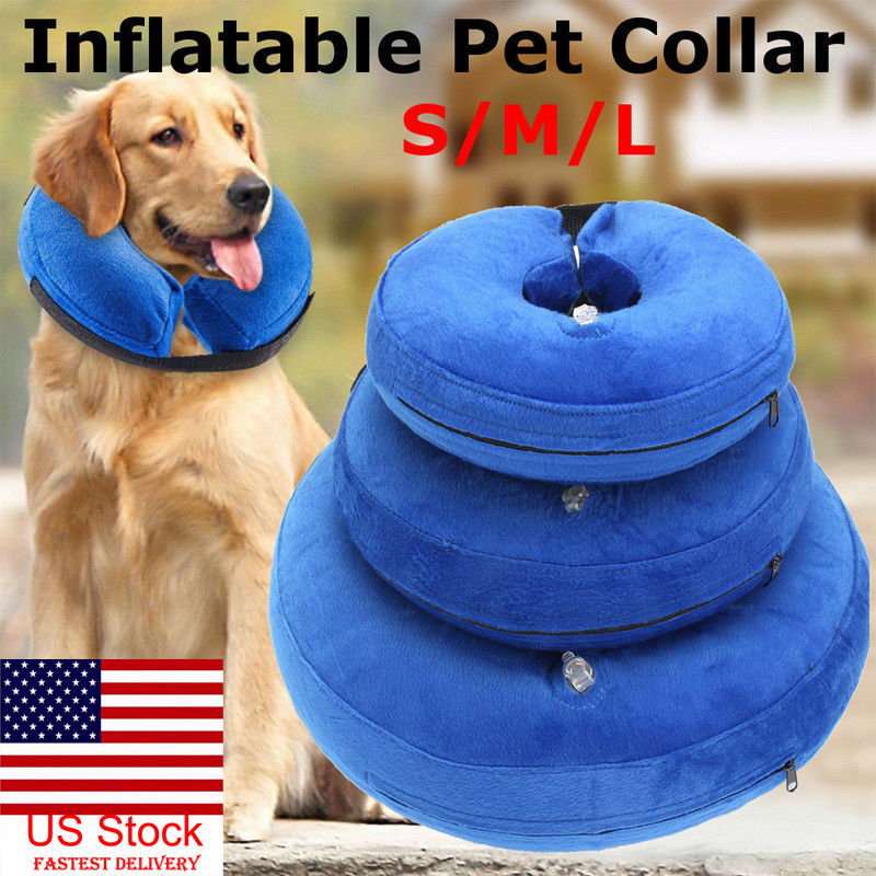 Inflatable Dog Collars Comfy Cone Medical Neck Collars