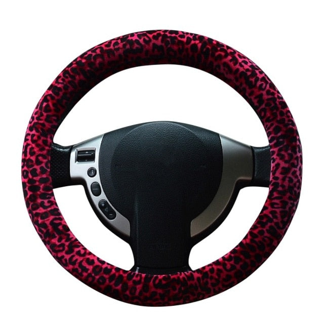 HIGH QUALITY SOFT 38CM LEOPARD CAR STEERING