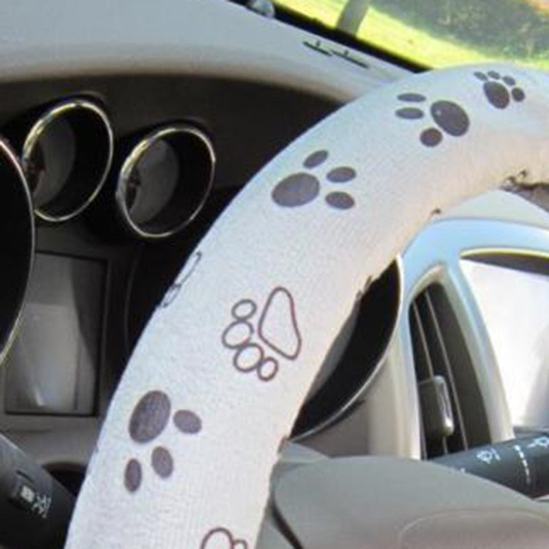 KEEP YOUR EYES ON THE ROAD AND YOUR PAWS UPON THE WHEEL COVER