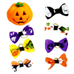 Bands Hair Bowknot Headwear For Pets Cat Dog 7 Pairs Squeaky Sound Pumpkin Toys