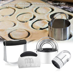 Stainless Steel Powderer Biscuit Mold Set Semi