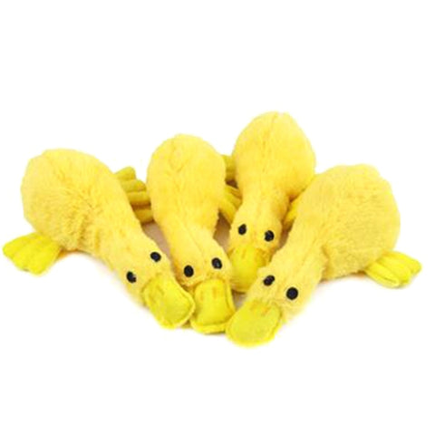 1 Pc Natural Pet Squeak Toys Latex Yellow Duck Sound Play Dog Toys For Small Large Dogs