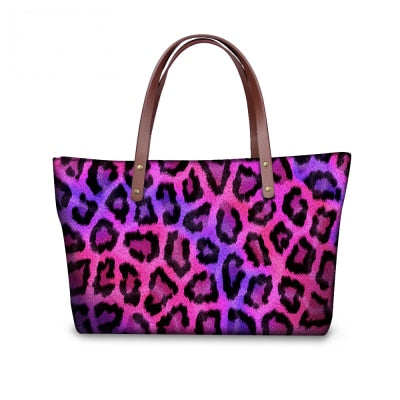 Colorful Leopard Print Tote Bag
