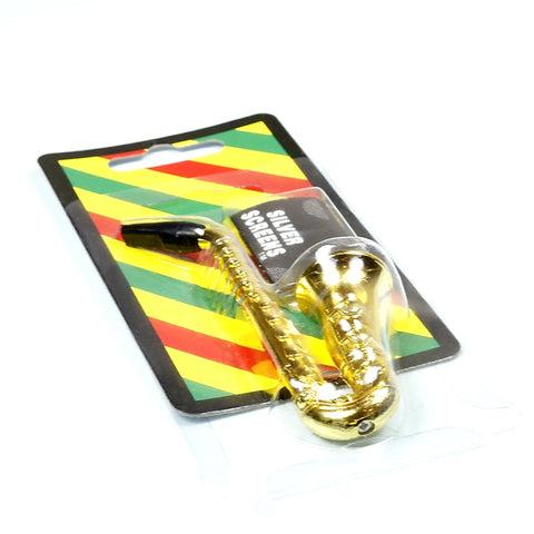 Metal Weed Pipes - Saxophone Portable Length 97mm