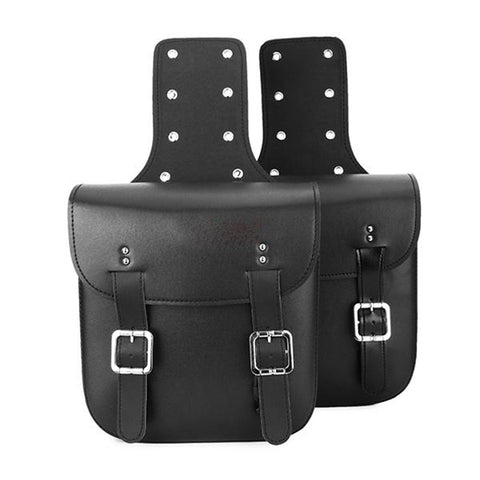 Motorbiker PU Leather Saddle Bags motorcycle Large Capacity Baggage luggage riding store tooling Saddle Bags