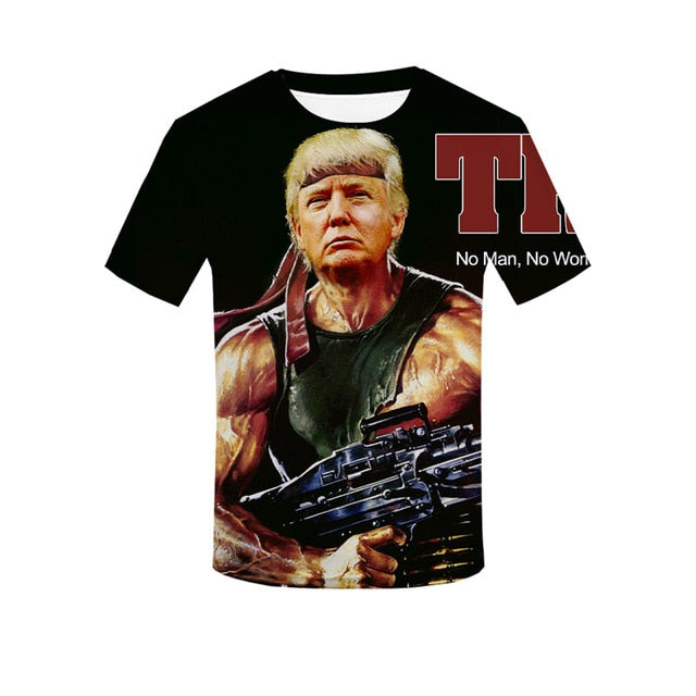 Fashion 2020 Donald Trump Fitness Jersey T Shirt Hot Trump