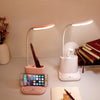 Image of LED Desk Lamp USB Rechargeable Touch Dimming Adjustment Table Lamp for Children Kids Reading Study Bedside Living Room Bedroom