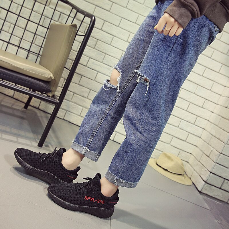 Autumn Sneakers Fashion Running Lace Up