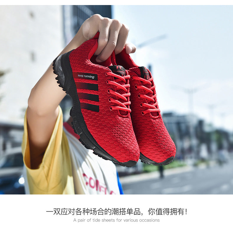 Men Running Shoes Breathable Big