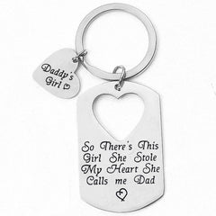 Father's day gift Alloy Letter Keychain present from daughter to father thanksgiving day birthday present for Dad