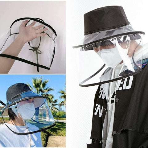 Safety Removable adjustment Anti-saliva Anti Droplet Dust-proof Full Face Protective Cover Mask Visor Shield